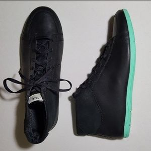 Clarks NEW Black Leather Jaqui Mid Top Sneakers
